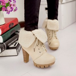 Shoespie Plush Ankle Boots