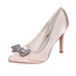 Shoespie Rhinestone Pointed toe Stiletto Heels