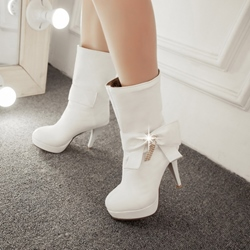 Shoespie Rhinestone Ankle Boots