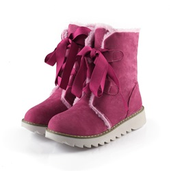 Shoespie Leopard Lace up Snow Boots
