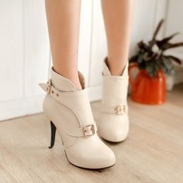 Shoespie Buckles Ankle Boots