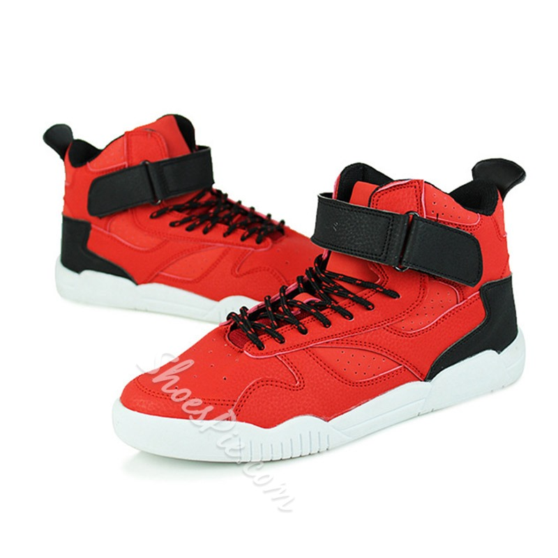 Shoespie Fashion Contrast Color Velcro Ankle Wrap High-cut Upper Sneakers