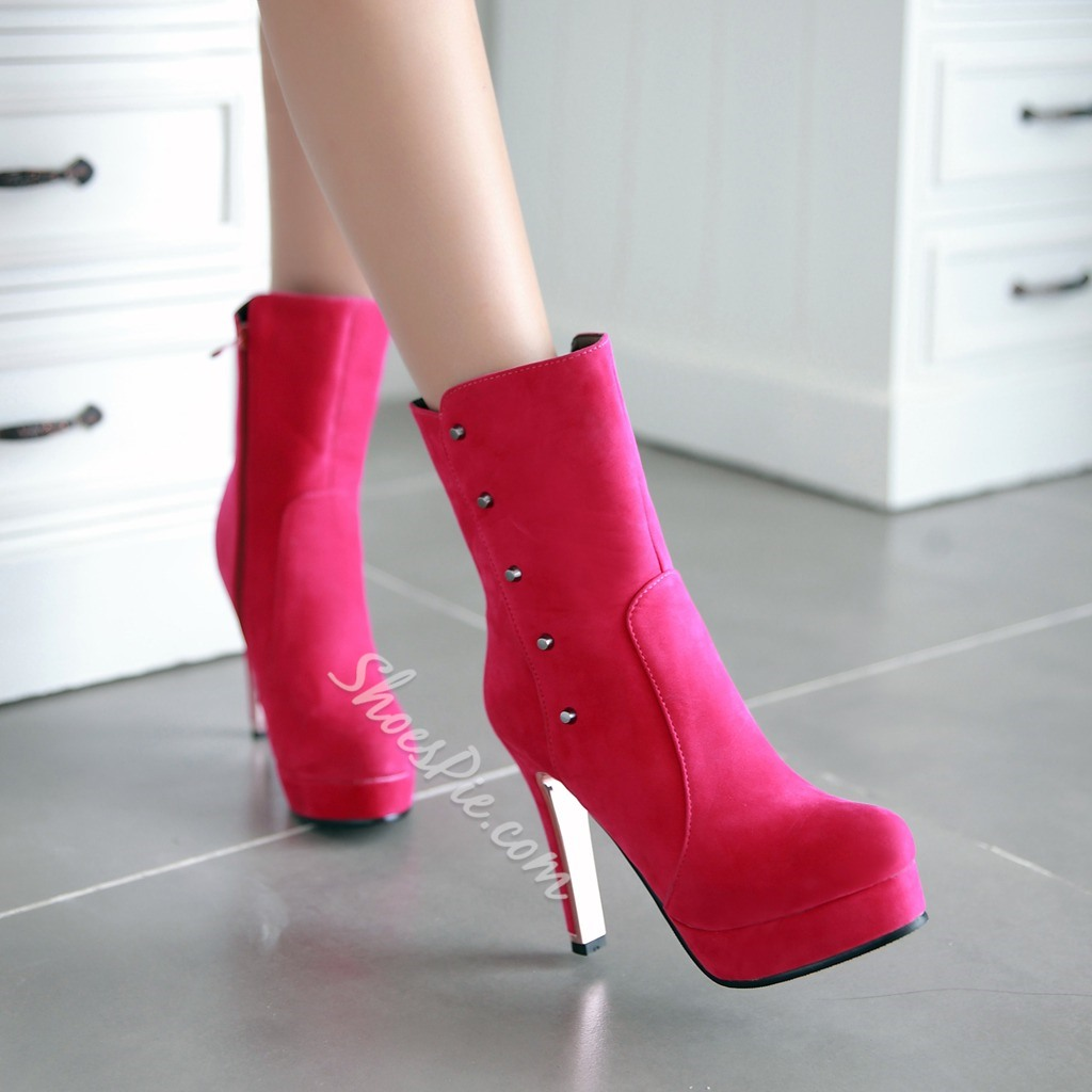 Shoespie Classy Stiletto Heel Ankle Boots