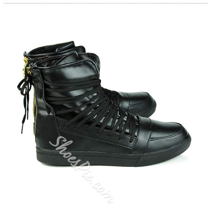Shoespie Lace Up Men's Flat Boots