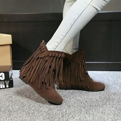 Shoespie Tassels Flat Boots