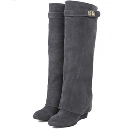 Shoespie Metal Buckles Knee High Boots