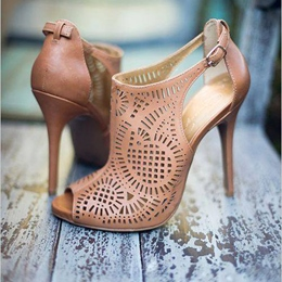 Shoespie Peep toe Stiletto Heel Dress Sandals