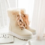 Shoespie Cute Lace up Snow Boots