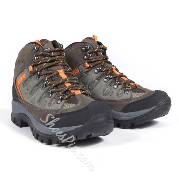 Shoespie Men's Lace up High-cut Upper Hiking Sneakers