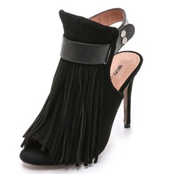 Shoespie Sexy Tassels Decoration Pee Toe Slingback Strap Stiletto Heels