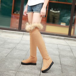 Shoespie Cute Round Toe Winter Fur Snow Boots