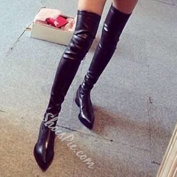 Shoespie Pointed toe Thigh High Boots