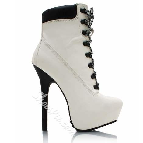 Shoespie Graceful Lace Up Platform High Heel Ankle Boots