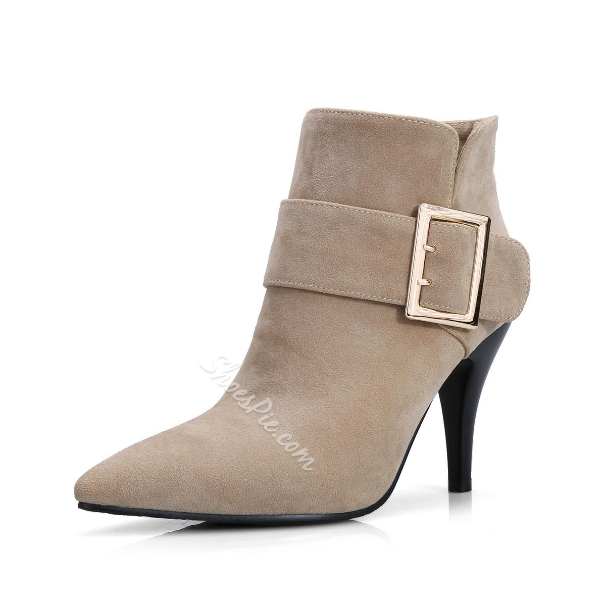 Shoespie Nubuck Buckles Ankle Boots