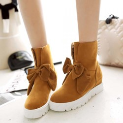 Shoespie Special Bowtie Slip-on Ankle Boots
