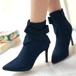 Shoespie Side Bowtie Ankle Boots