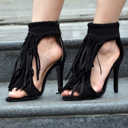Shoespie Tassels Stiletto Heels Sandals