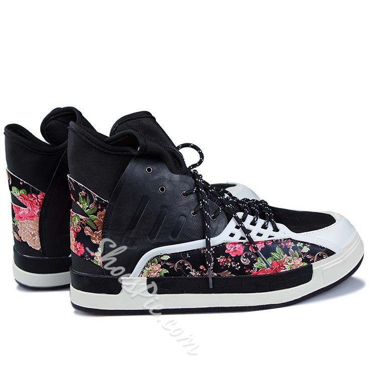 Shoespie Colors Contrast Lace Up Sneakers