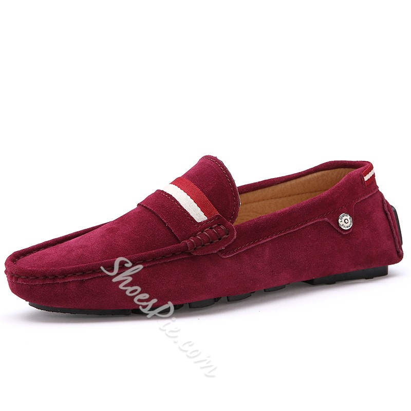 Shoespie Casual Contrast Color Flat Heel Men's Loafers