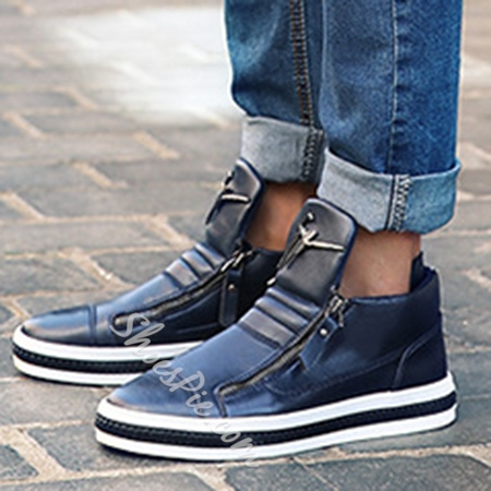 Shoespie Zipper Decoration Men Shoes