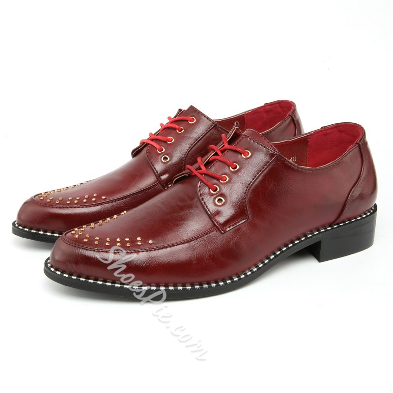 Shoespie Sequined Men Leather Shoes