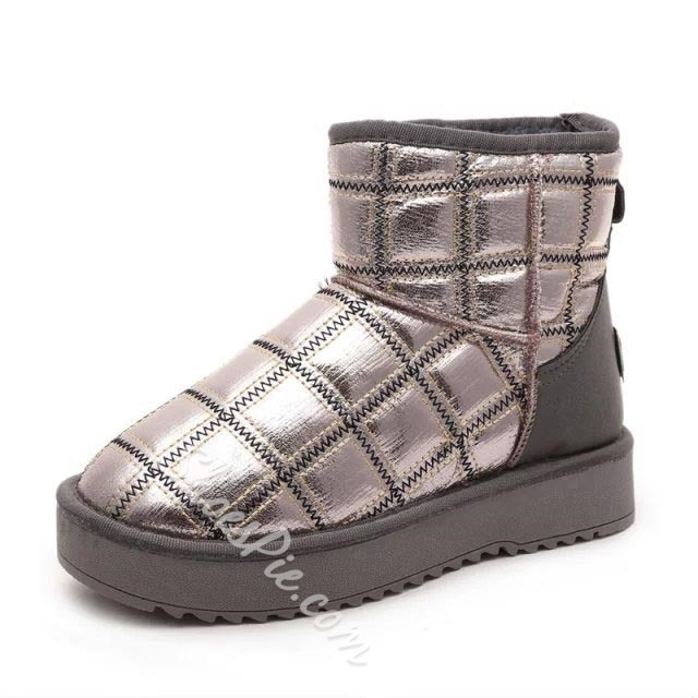 Shoespie Patchwork Snow Boots