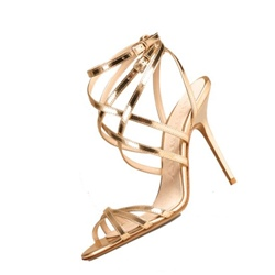 Shoespie Gold Straps Dress Sandals