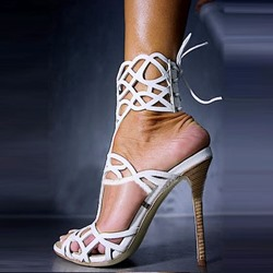 Amazing Pretty Girl Ankle Strap Dress Sandals