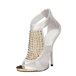 Shoespie Rhinestone Peep toe Stiletto Heels