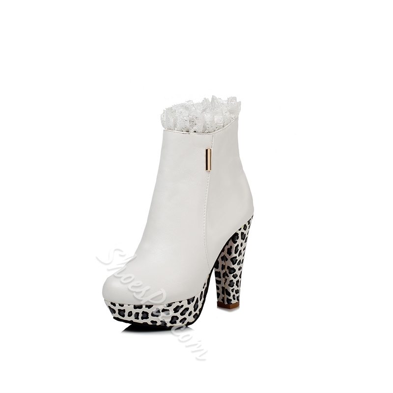 Shoespie Furry Platform Boots