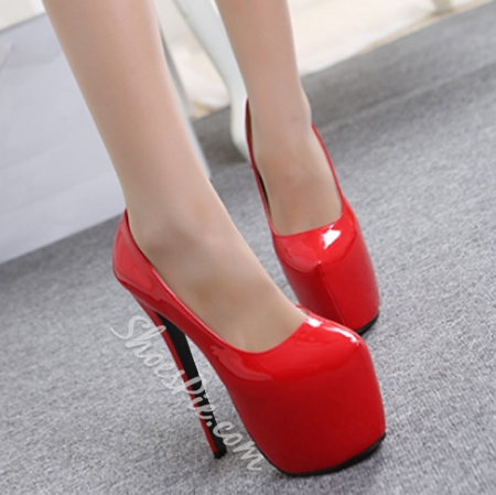 Shoespie Stylish Candy Color Slip On Stiletto Platform Heels