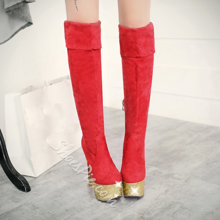 Shoespie Comfortable Platform Knee High Boots