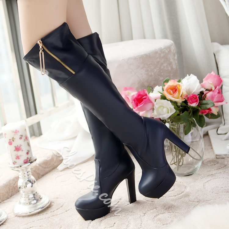 Shoespie Platform Knee High Boots