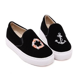 Shoespie Black Printed Sneakers