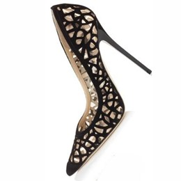 Shoespie Black Cut Out Pointed Toe Stiletto Heels