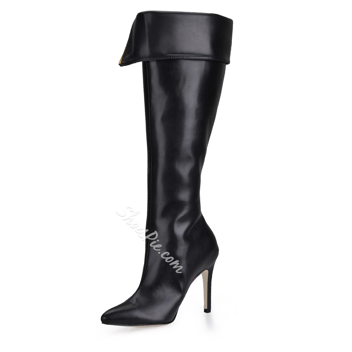 Fashion Style Stiletto Heels Closed-toe Knee High Boots