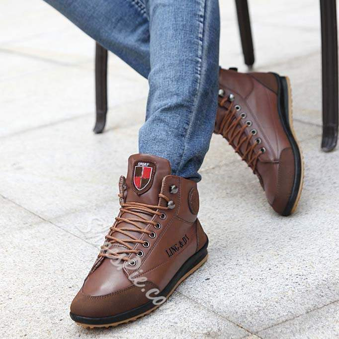 Shoespie Patchwork High Quality Lace Up Men's Sneakers