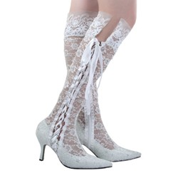Shoespie Side Lace Up Knee High Boots