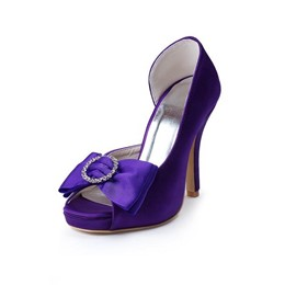 Shoespie Purple Bridal Shoes