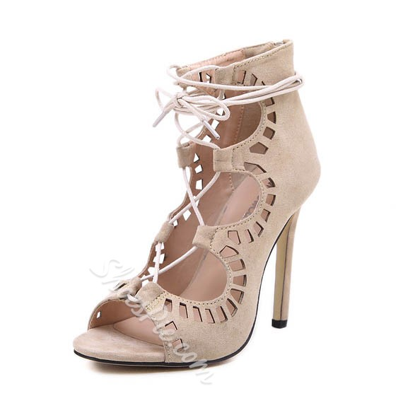 Shoespie Cutout Stiletto Heel Open Toe Dress Sandals
