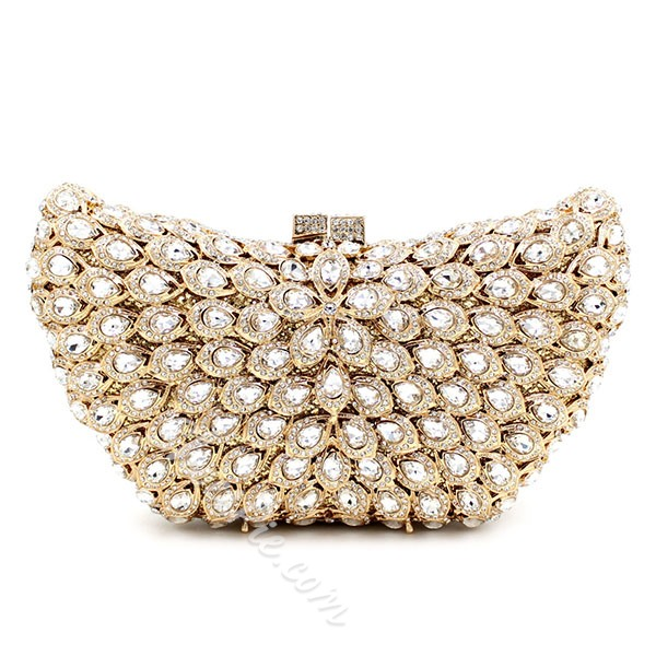Shoespie Luxurious Rhinestone Clutch