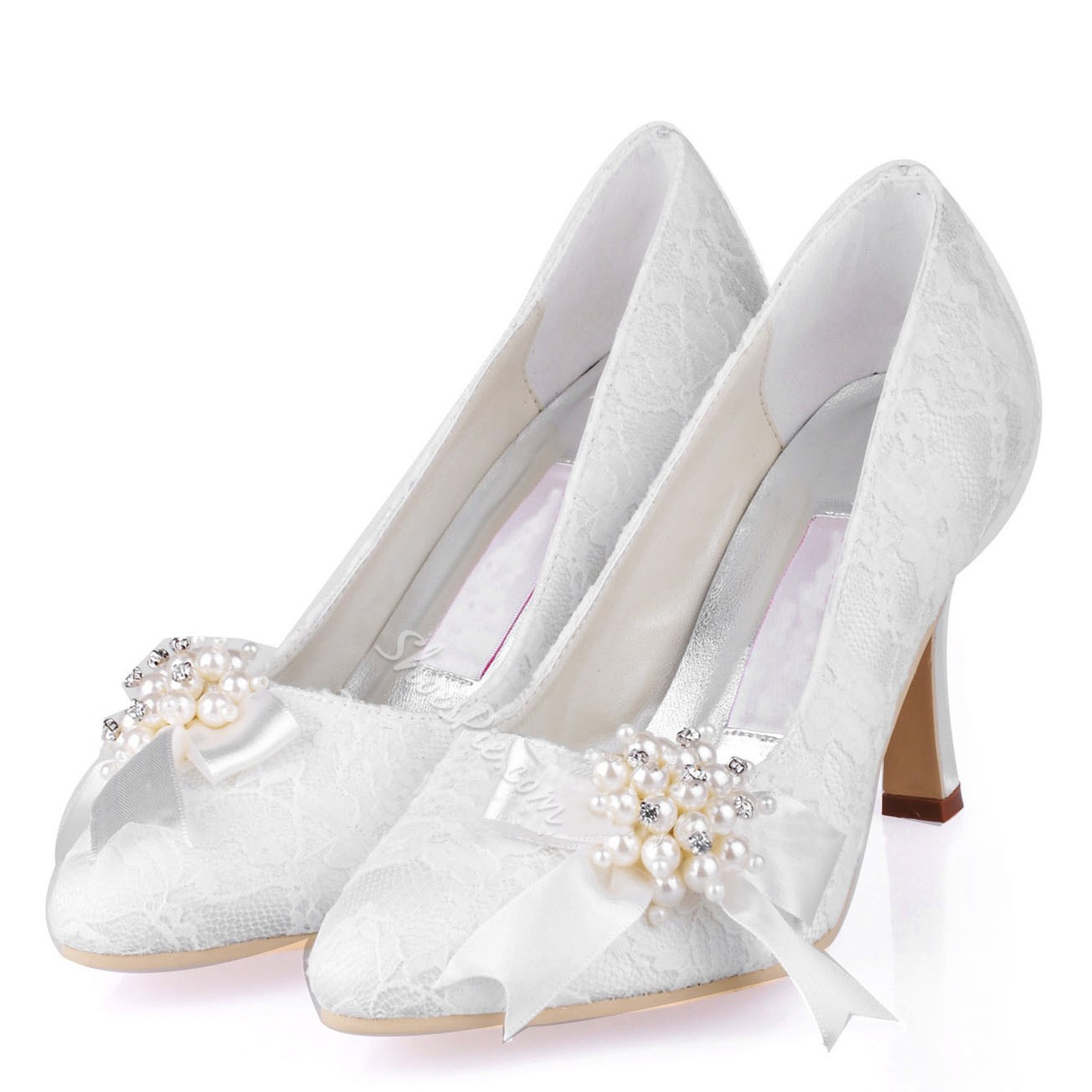 Shoespie White Bridal Shoes
