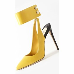 Shoespie Classy Yellow Pointed Toe Stiletto Heels
