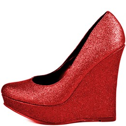 Shoespie Red Wedge Heel Pumps