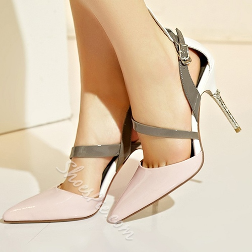 Shoespie Lovely Pointed Toe Stiletto Sandal Heels
