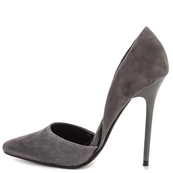Shoespie Classy Gray Stiletto Heel Pumps