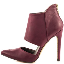Shoespie Burgundy Pointed Toe Stiletto Heel Shoes
