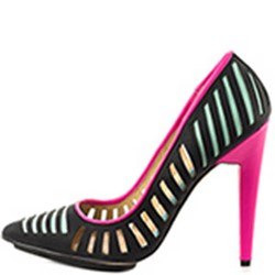 Shoespie Black Cut Out Stiletto Heels