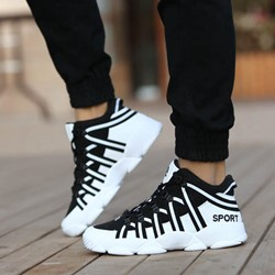 Shoespie Western Flat Heel Sports Sneakers