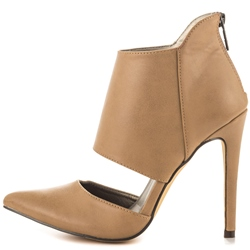 Shoespie Camel Pointed Toe Stiletto Heel Shoes